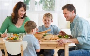Prioritize sit-down family dinner